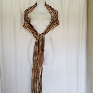 MISSONI Knit Fringe Light Scarf Shawl Wrap